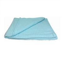 Простыня вафельная для бани Светло-голубой 200х180 см