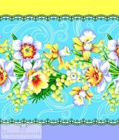 Вафельное полотенце «Нарциссы»