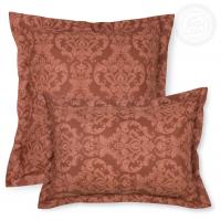 Наволочки с ушками Византия коричневая