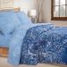 Артпостель Поплин DE LUXE Синий узор, 1,5-спальное, арт. 900