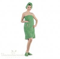 Набор для сауны женский (зеленый)