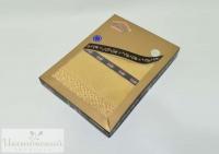 Скатерть «EVDY» с гипюром золотой