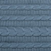 Вязаный плед Cеро-голубой 140х180 см