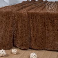 Плед Шиншилла искусственный мех коричневый