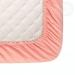 Простыня на резинке Гламур Розовый из сатина Артпостель