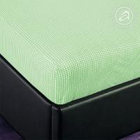 Простыня на резинке Клетка (зеленый) трикотаж