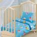 Детское постельное белье Артпостелька Бязь Облачко (Голубой), с простынёй на резинке, ясельное, арт. 131