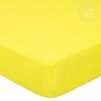 Простыня махровая на резинке Лимон