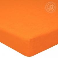 Простыня махровая на резинке Апельсин