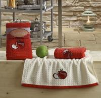 Салфетки вафельные «LEMON» яблоко (45х65) 2 шт