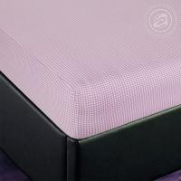 Простыня на резинке Клетка (розовый) трикотаж