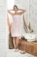 Набор для сауны женский (грязно-розовый)